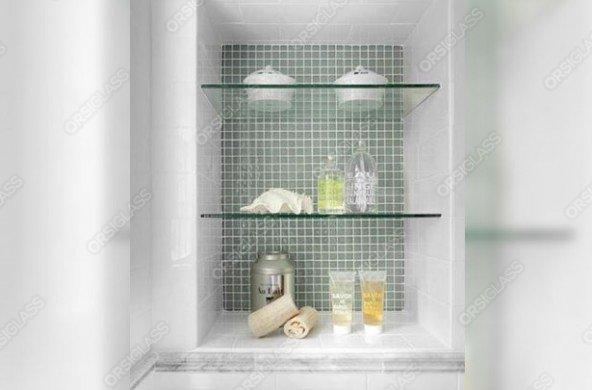 Étagères en verre pour salle de bain