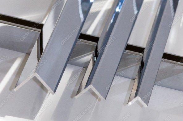 Cornière aluminium chromé